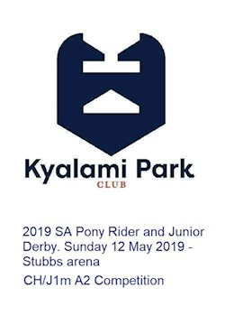SA Pony Rider and Children's Derby - CH/J1m A2 Competition