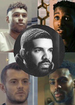 We love Drake, say Ox, Zaha, Wilshere, Rose