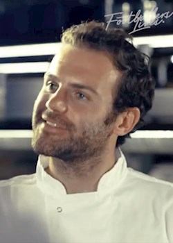 Juan Mata learns to cook a perfect fish dish